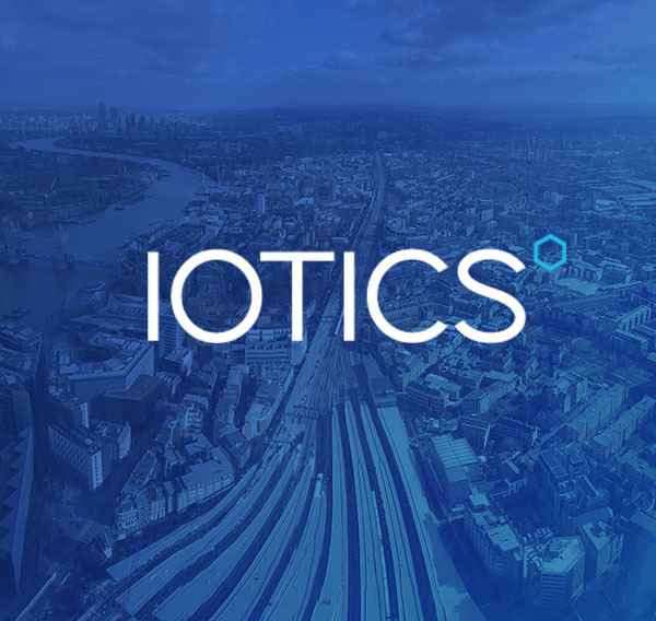 iotics logo over london